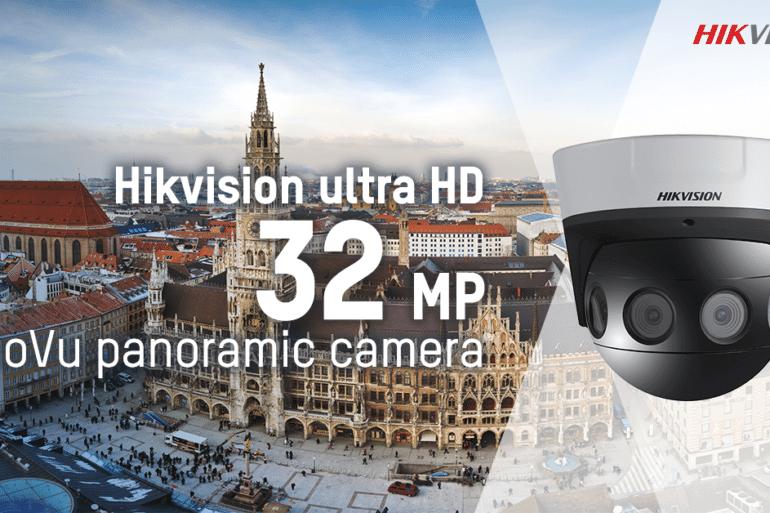 A nova Câmera Panorâmica Dome Série PanoVu de 32 MP DS-2CD6984G0-IH